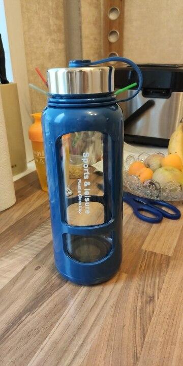 JOUDOO 700ml 1000ml Portable Glass Water Bottles Outdoor Space Bottle Sports Water Bottle Leak proof Bike Climbing Gift 35|Water Bottles|   - AliExpress