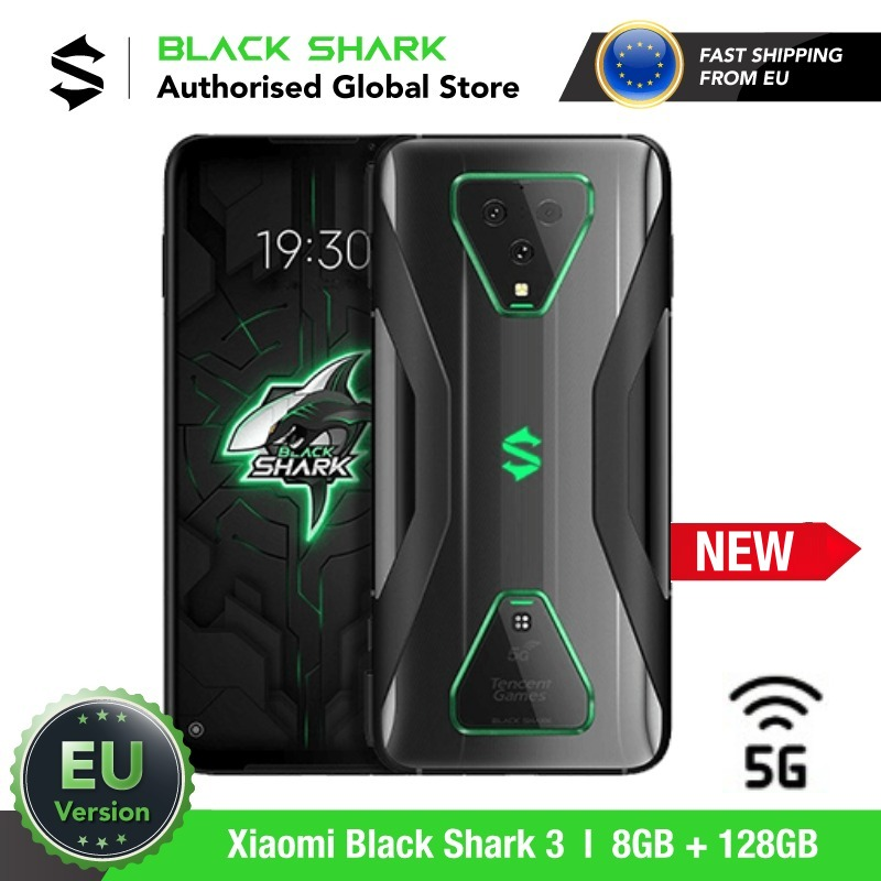 EU Version Xiaomi Black Shark 3 128GB ROM 8GB RAM 5G Gaming phone (Newly Launch Promos) blackshark, blackshark3 Smartphone Mobil