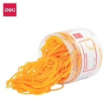 Hair-Loop Rubber-Band 100gram/Tube DELI Bank Yellow Paper Bills Office-Supplies Money
