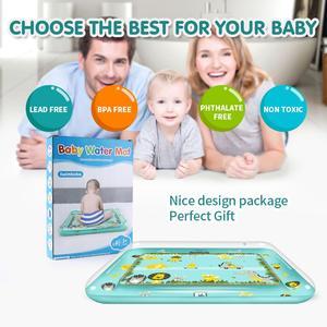 Image 3 - Bauch Zeit Spielen Matte Aufblasbare Baby Wasser Mat Infant Baby Matte Spaß Aktivität Spielen Kleinkinder Spielzeug für 3 12 monate