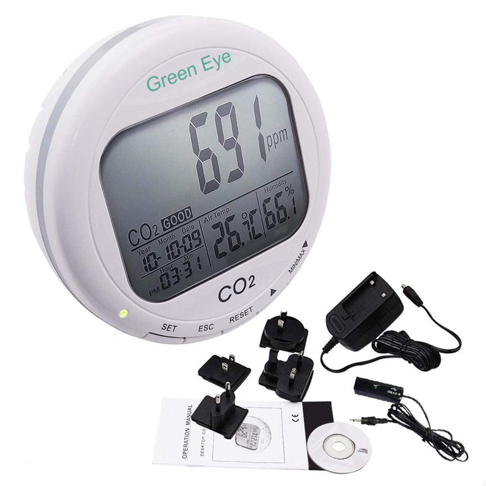 3-in-1 Indoor Air Quality Tester Iaq 9999ppm C02 Carbon Dioxide Desktop Datalogger Monitor Temperature Relative Humidity Rh 2019 Latest Style Online Sale 50%