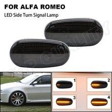 2 pçs dinâmico led lado marcador luzes seta pisca sinal de volta lâmpada para alfa romeo mito para alfa romeo mito 147 gt fiat bravo