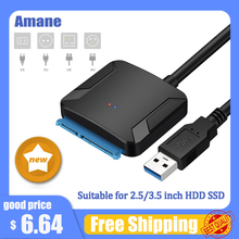 Amane USB 3 0 To Sata Adapter Converter Cable USB3 0 Hard Drive Converter Cable For Samsung Seagate WD 2 5 3 5 HDD SSD Adapter cheap HDMI CN(Origin) SATA Cables STOCK SATA Cables Converter Usb to sata data cable Up to 5Gbps 2 5inch HDD SSD no need power