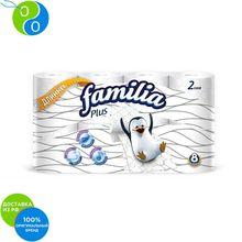 Туалетная бумага FAMILIA PLUS Белая 2 слоя 8 рулонов