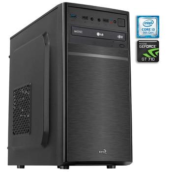 Computer desktop PC GAMING basic GT3 Intel i3-9100F DDR4 8GB HDD SSD 240 GB SATA, GT710 1GB, usb 3.0, cheap computer
