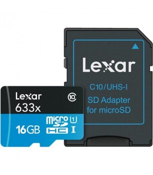 LEXAR MICRO SDXC 16 GB 95 M/S 633X UHS1 + adapter