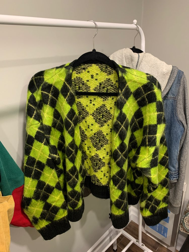 Punk Vintage knitted oversized cardigan photo review