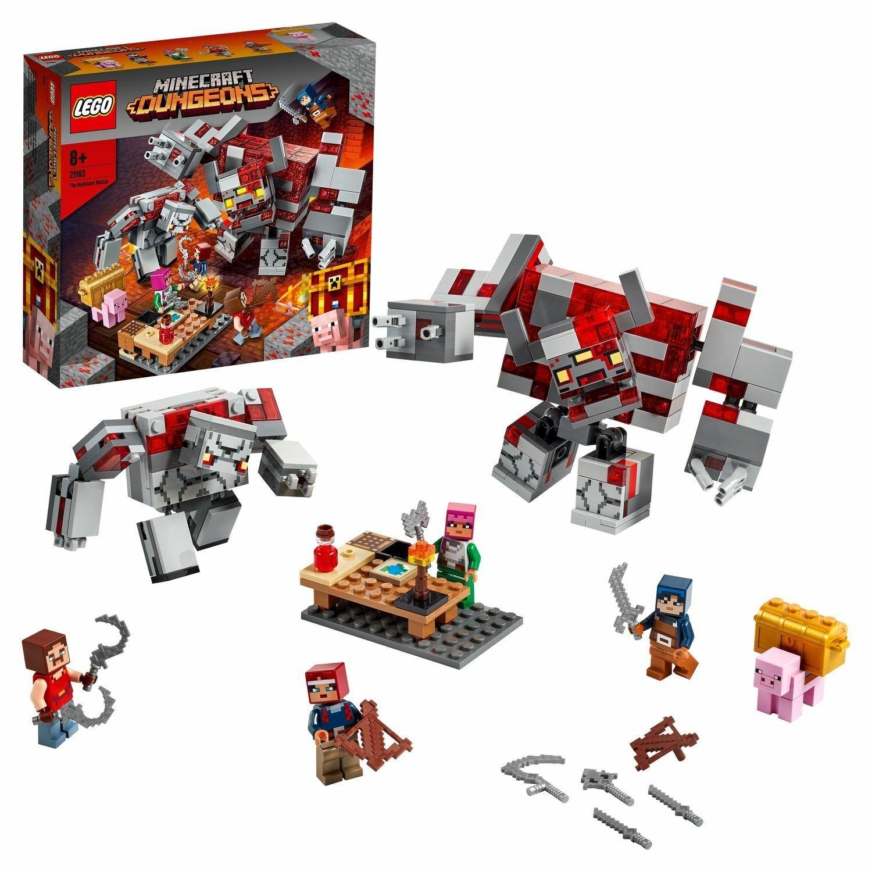 Конструктор LEGO Minecraft 21163 Битва за красную пыль Нажимные блоки    АлиЭкспресс