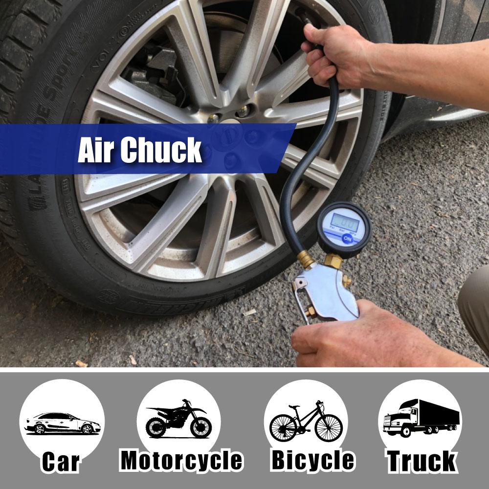 LEMATEC Pro Alluminio Gonfiatore digitale per pneumatici con - Utensili elettrici - Fotografia 3