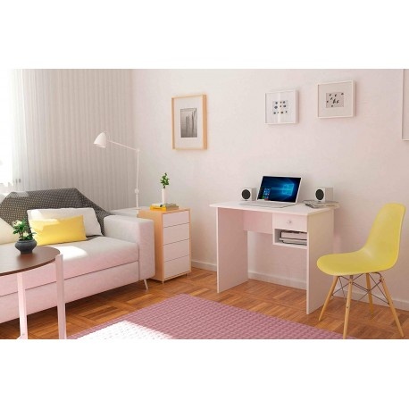 Oak Desk Or White With To Drawer.