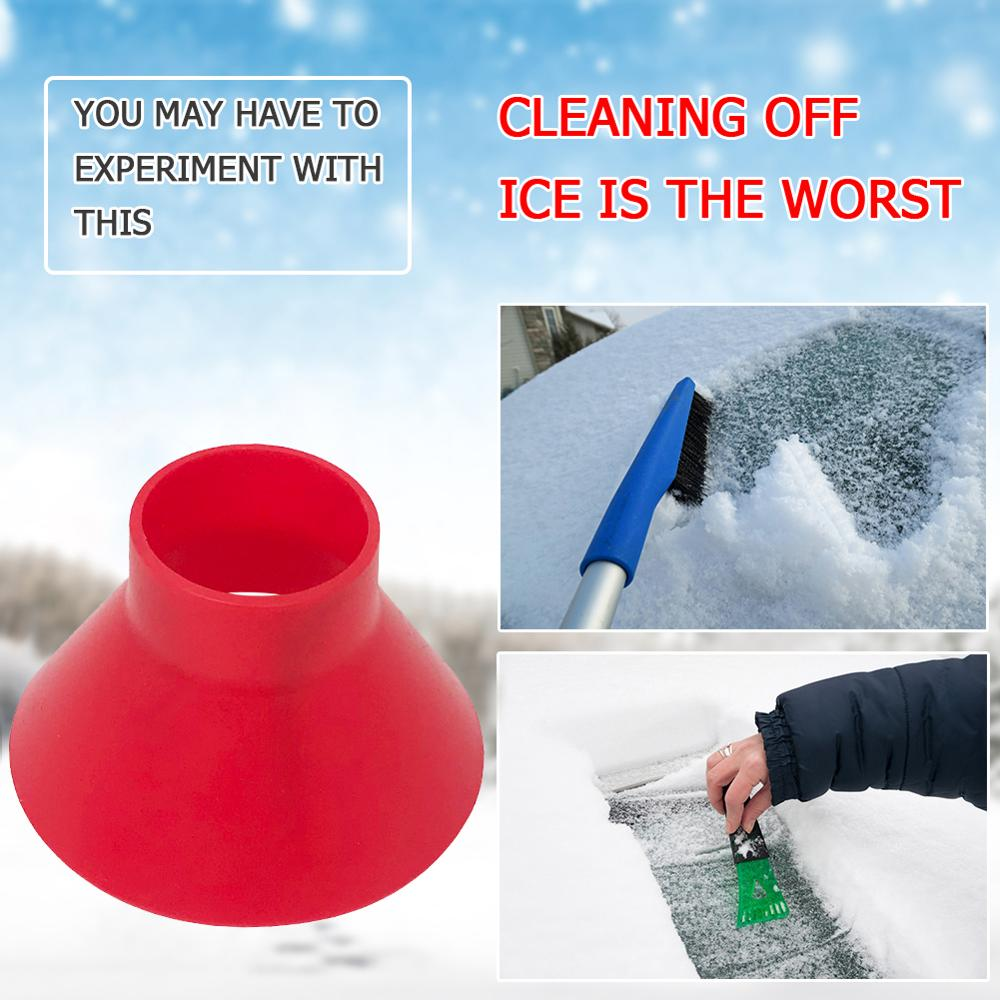 Car Ice Scraper Tool Magic Cone Shaped Ice Scraper Removable Outdoor Car Winter Window Windshield Round Snow Ice Shovel Removal