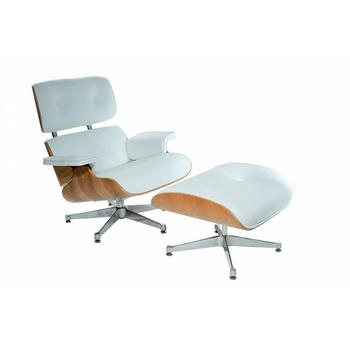 Nordic style relax white leather armchair, inspired by the Lounge Chair by Charles Eames ENVIOS in free from Spain с гунод призыв invocation by gounod charles