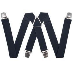 Подтяжки для брюк с усиленными клипсами (3.5 см, 4 клипсы, Серый) 54765