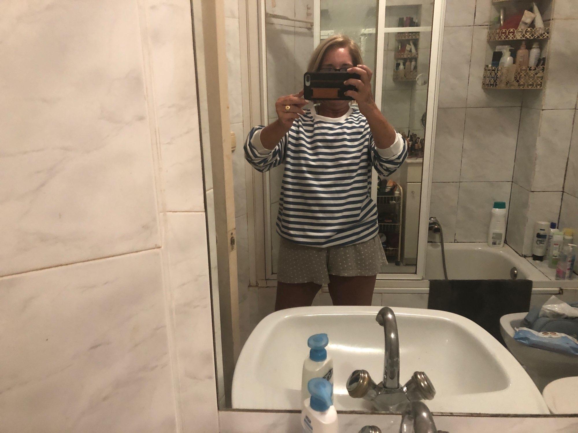 Harajuku E-girl Grunge striped cotton Sweatshirt photo review