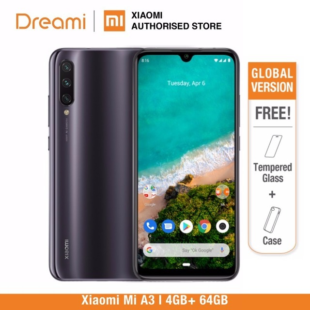 Phiên Bản Toàn Cầu Tiểu Xiaomi Mi A3 Rom 64GB 4GB RAM (Thương Hiệu Mới Và Niêm Phong Kín) mi A3 64GB Mới Nhất Xuất Hiện
