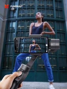 Funsnap Gimbal-Stabilizer Gopro Camera Action Smartphone Samsung 3-Axis handheld XR EKEN