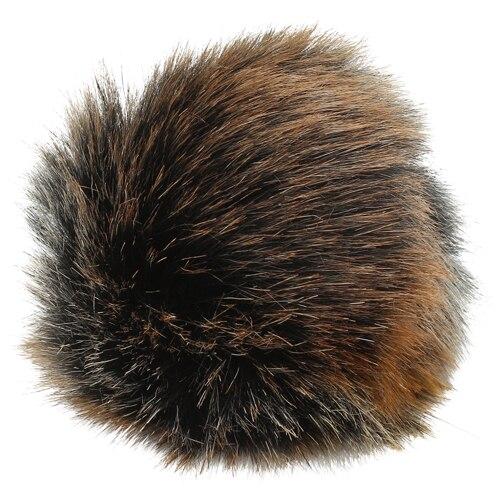 5as-269 Pompom Made Of Artificial Fur 12 Cm (3 Gray Multicolor)