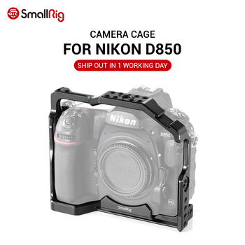 SmallRig d850 DSLR Camera Cage for Nikon D850 With Cold Shoe Mount Arri Locating Holes For DIY Options 2129 smallrig aluminum arri locating side handle with cold shoe mount for universal camera cage with arri locating hole 2426