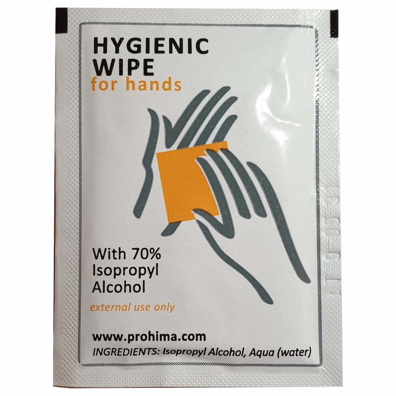 Towelettes Higienizantes Sanitizers With 70% Isopropyl Alcohol/Hidroalcoholico (Pack 20 Units)