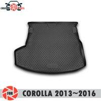 Toyota corolla 용 트렁크 매트 2013 ~ 2016 트렁크 플로어 러그 미끄럼 방지 폴리 우레탄 먼지 보호 인테리어 트렁크 카 스타일링
