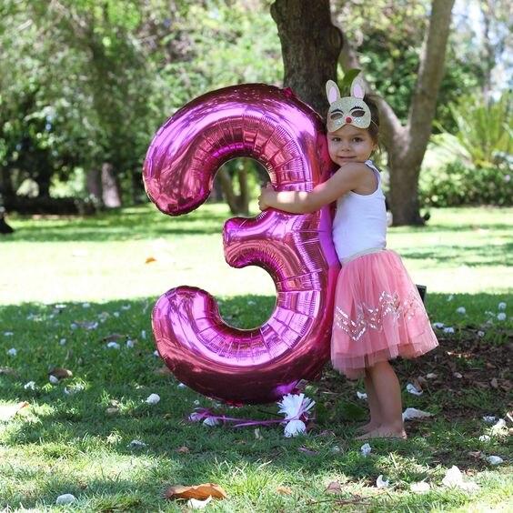 Большой размер 40 и 42 дюйма синий/розовый большой номер фольги Воздушные шары 0-9 день рождения свадьбы помолвки вечерние украшения Globos Детские бальные принадлежности-4