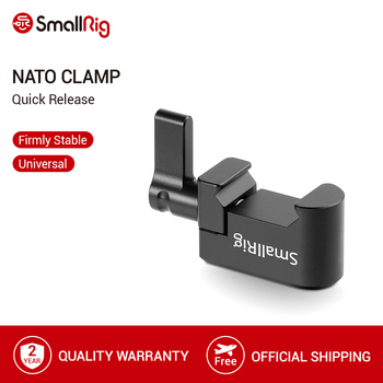 smallrig adjustable friction articulating magic arm with screw ball head and nato clamp ball head for director monitor support SmallRig Nato Clamp Quick Release Clamp with 1/4 3/8 M2.5 Thread for Cold Shoe Monitor Support Ball Head - 1973