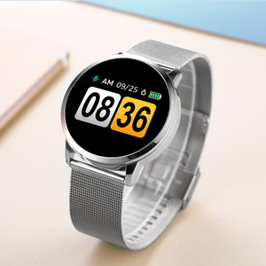 Image 5 - RUNDOING Q8 חכם שעון OLED צבע מסך Smartwatch נשים אופנה גשש כושר קצב לב צג