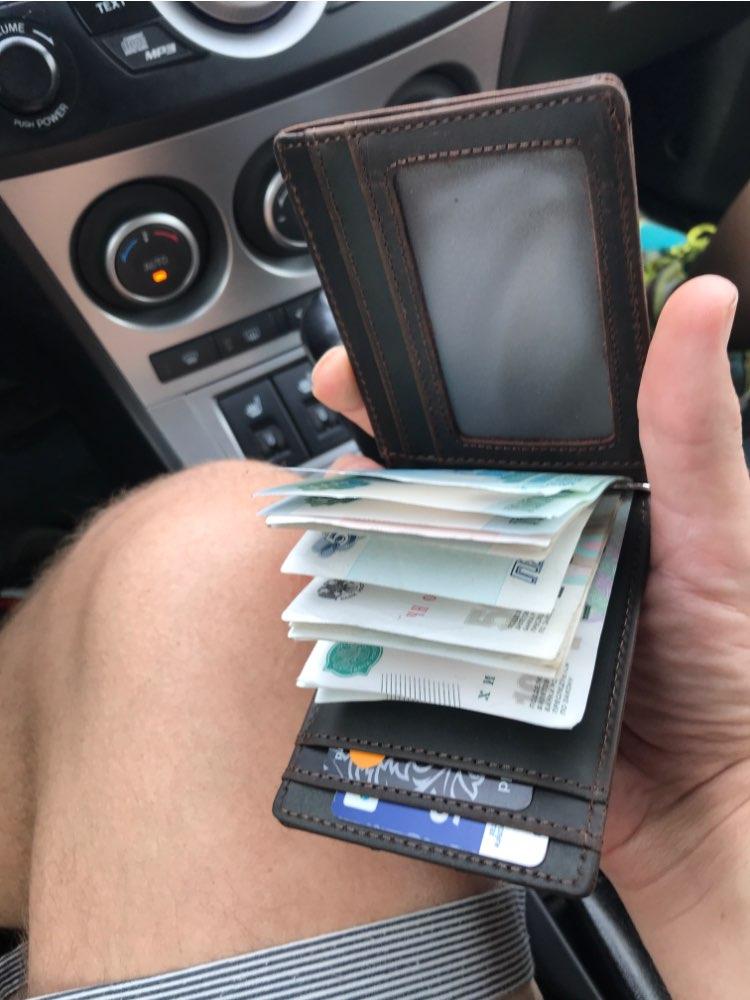 Clipe de dinheiro Genuíno Carteira Cartão