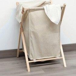 Kosz na pranie składany beżowy 119932 w Składane torby do przechowywania od Dom i ogród na
