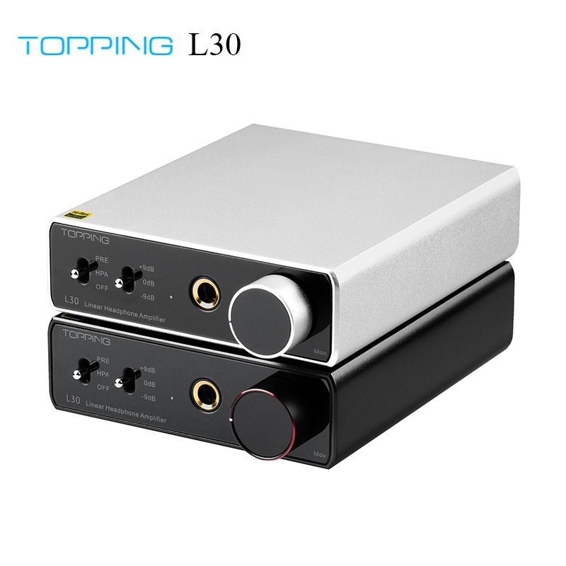 TOPPING L30 Amp 6 35MM NFCA 3 Step Gain Settings HiFi Headphone Amplifier RCA Hi-Res Preamplifier for E30 DAC