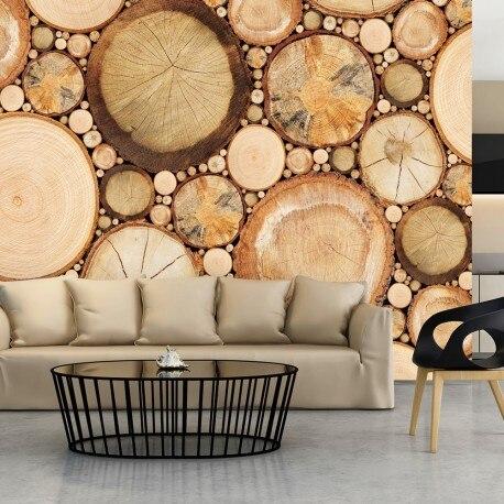Photo Wallpaper-Rings Wood