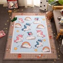 Детский игровой ковер для ползания с единорогом коврик малышей