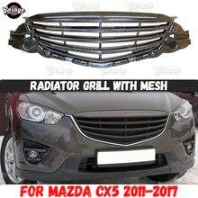Kühlergrill mit mesh fall für Mazda CX5 2011 2017 ABS kunststoff zubehör schutz körper kit auto styling tuning