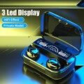 Беспроводные Bluetooth-наушники с сенсорным управлением, 3 светодиодный ных дисплея