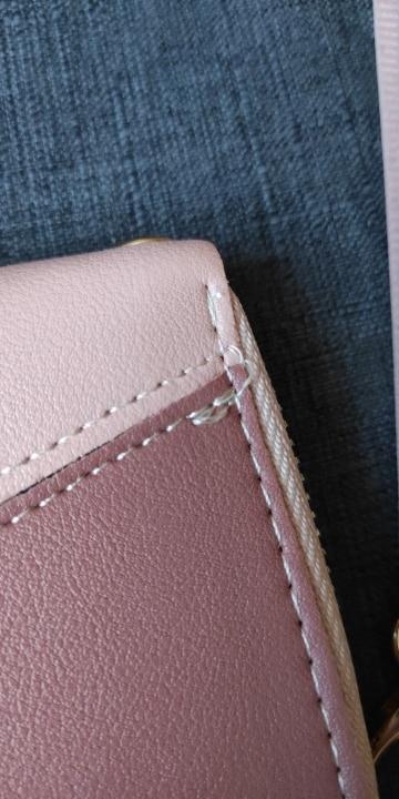 Geometric Luxury Brand Leather Women Long Zipper Coin Purses Tassel Design Clutch Wallet Female Money Credit Card Holder photo review