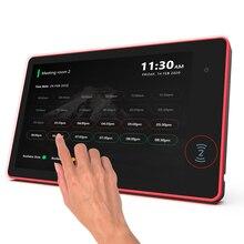 Aktualizacja 10.1 cal PoE tablet z androidem pc z listwa LED wielu kolor NFC dla konferencji sala konferencyjna w harmonogramie, wyświetlacz open source