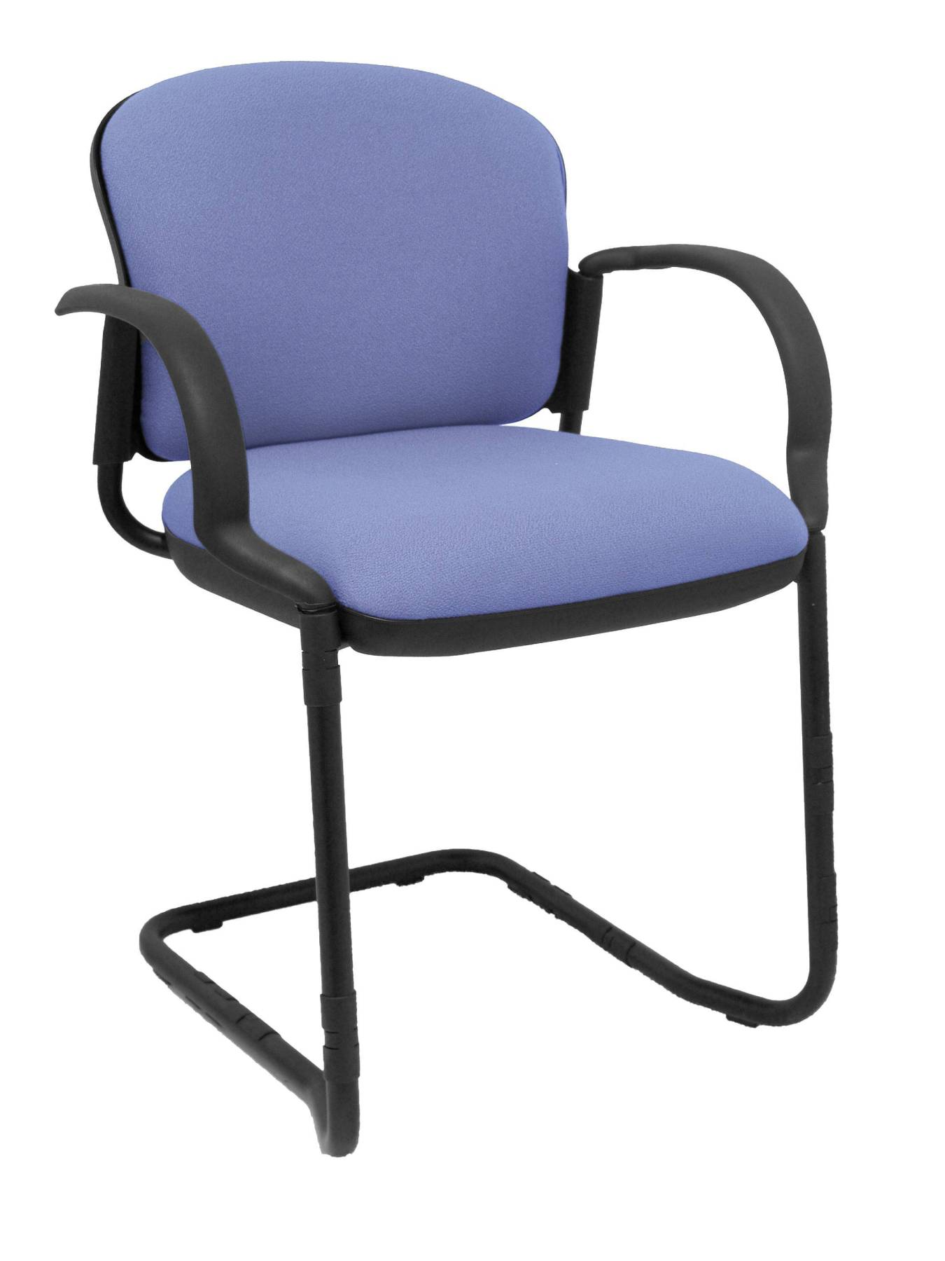 Visitor Chair/waiting Room With Arms Fixed Included And Skate Color Black-up Seat And Backstop Upholstered In Tej