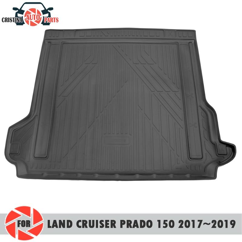 Tapis de coffre pour Toyota Land Cruiser Prado 150 2017-2019 tapis de sol de coffre antidérapant en polyuréthane