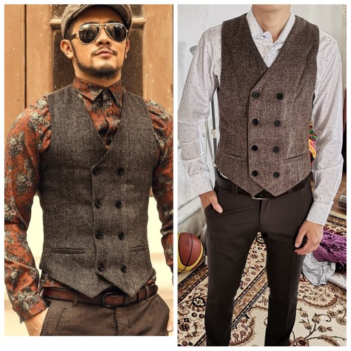 Mens Double Breasted Vest Men Dress Suit Vest Men Formal Grey Vest Suit Gilet Vest Slim Business Jacket Tops homme spring M51|grey vest suit|vest suitdress suit vest - AliExpress