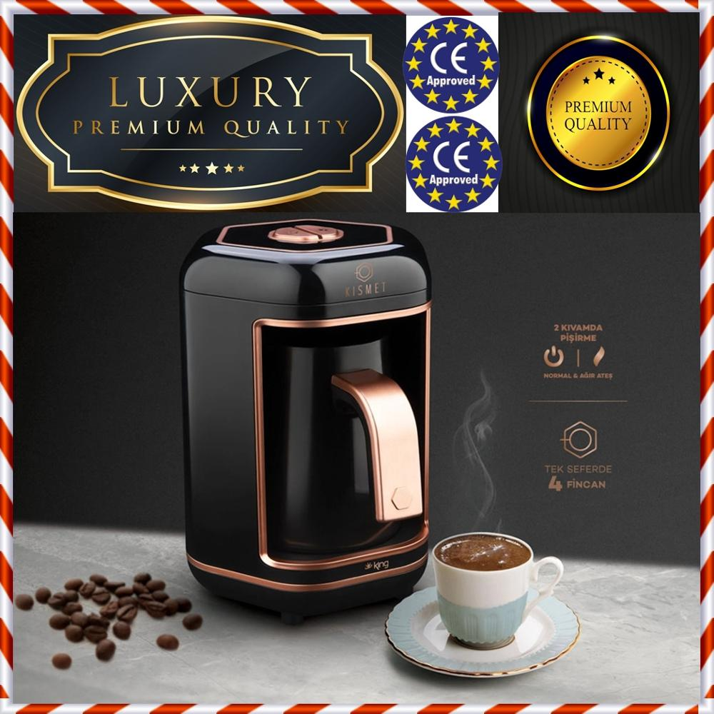 MADE IN TURKEY / Coffee At The Embers Automatic Turkish Coffee Maker Machine 220V EU -  Brand New In The Original Factory Box