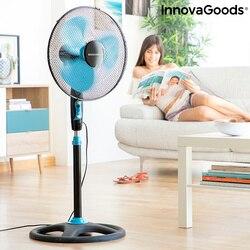 Отдельно стоящий вентилятор InnovaGoods Ø 40 см 50 Вт черный синий