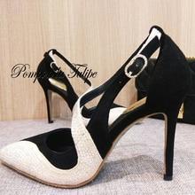 MNK 930024 Velvet Flock Rhinestone Mixed Colors Elegant Sheepskin Pumps 8/10CM Chic Stilettos Fancy Party Wedding Women Shoes
