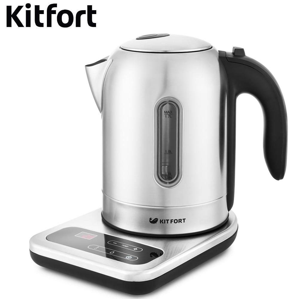 Electric kettle Kitfort KT-658 Kettle Electric Electric kettles home kitchen appliances kettle make tea Thermo все цены