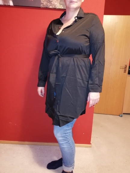 Spring Long Sleeve Blouse Shirt Dress With Belt Women Oversized Midi Dress Retro Tunic Casual Office Work Vestidos Plus Size 5Xl photo review