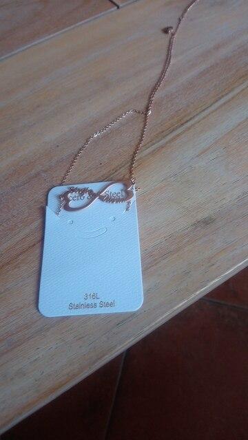 collier infini prenom