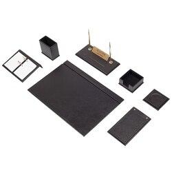 Кожаный Настольный набор из 9 предметов (органайзер для стола, офисные аксессуары, аксессуары для стола, офисные принадлежности, органайзер ...