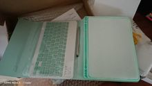 received and accurately my son's ipad can recognised the keyboard. the case is not leather