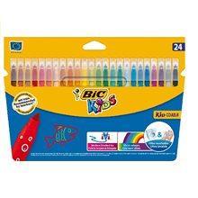 Crayons en feutre Couleur Bic boîte de 24 enfants