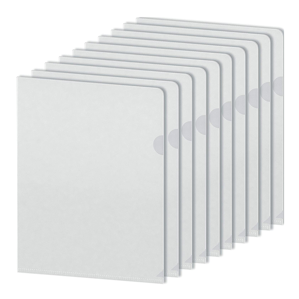 Clear Plastic Sleeves A4 Size, Clear Poly Document Folders Transparent Plastic File Pockets, Poly Pr