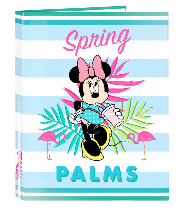 A4 Folder Minnie Palms Disney Rings 26,5x33x4 Cm.